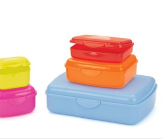Coloured Lunch Boxes